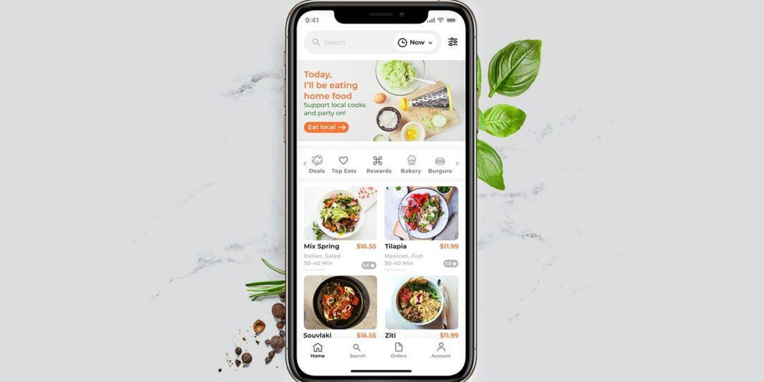HOMIE COOK FOOD APP UX UI DESIGN Ali Hoss