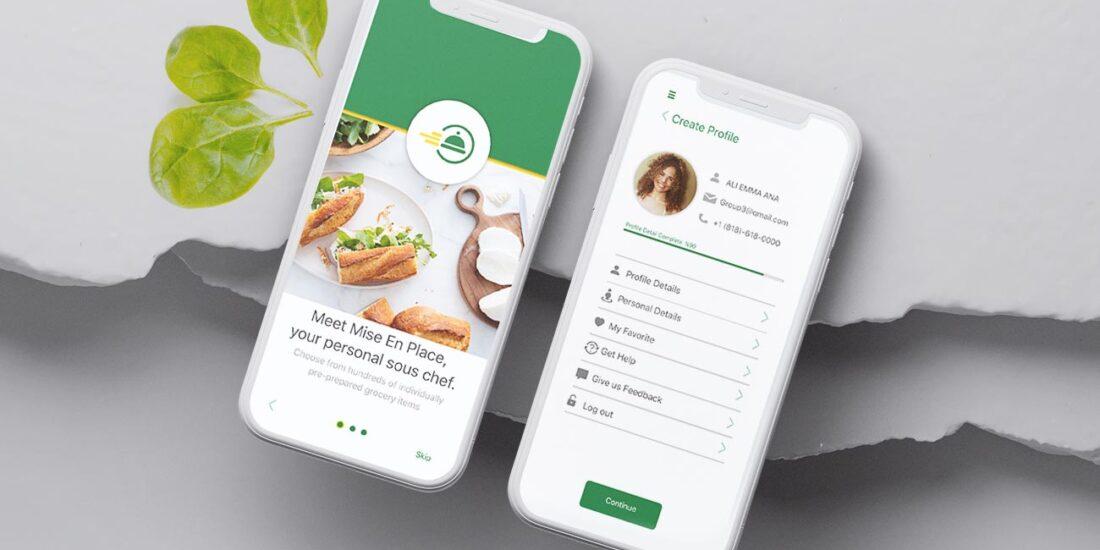 Mise En Place, Grocery App, UX Design, Ali Hoss