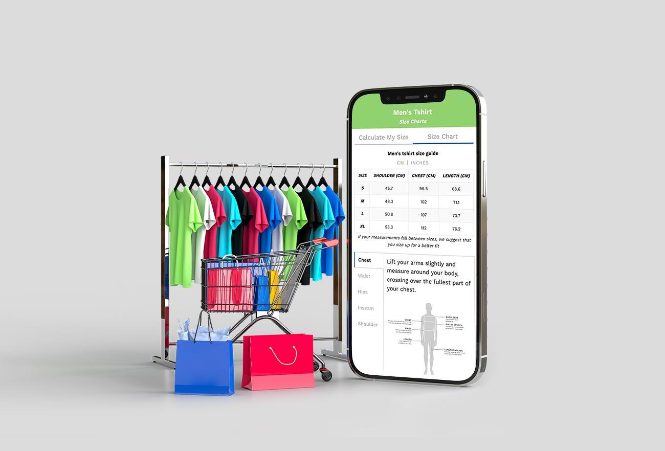 URFIT Apparel Size chart App UIUX DESIGN Ali Hoss